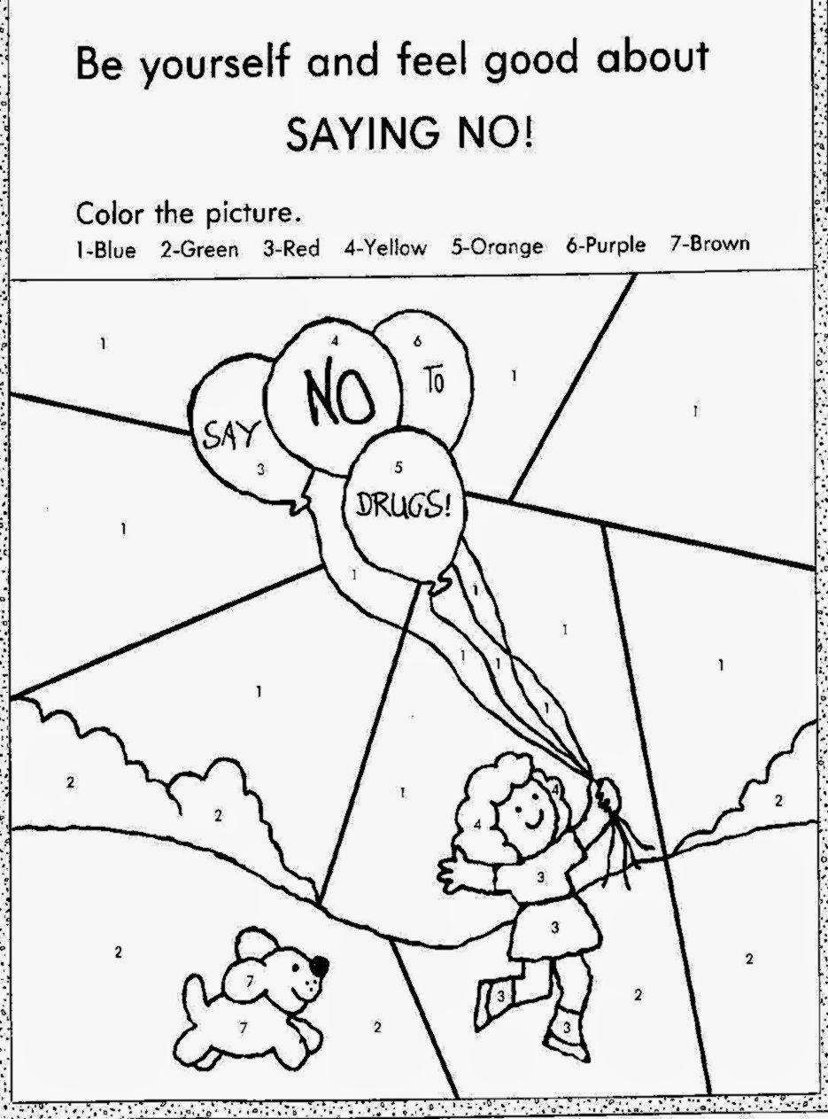 Printable Drug Free Coloring Pages 352325