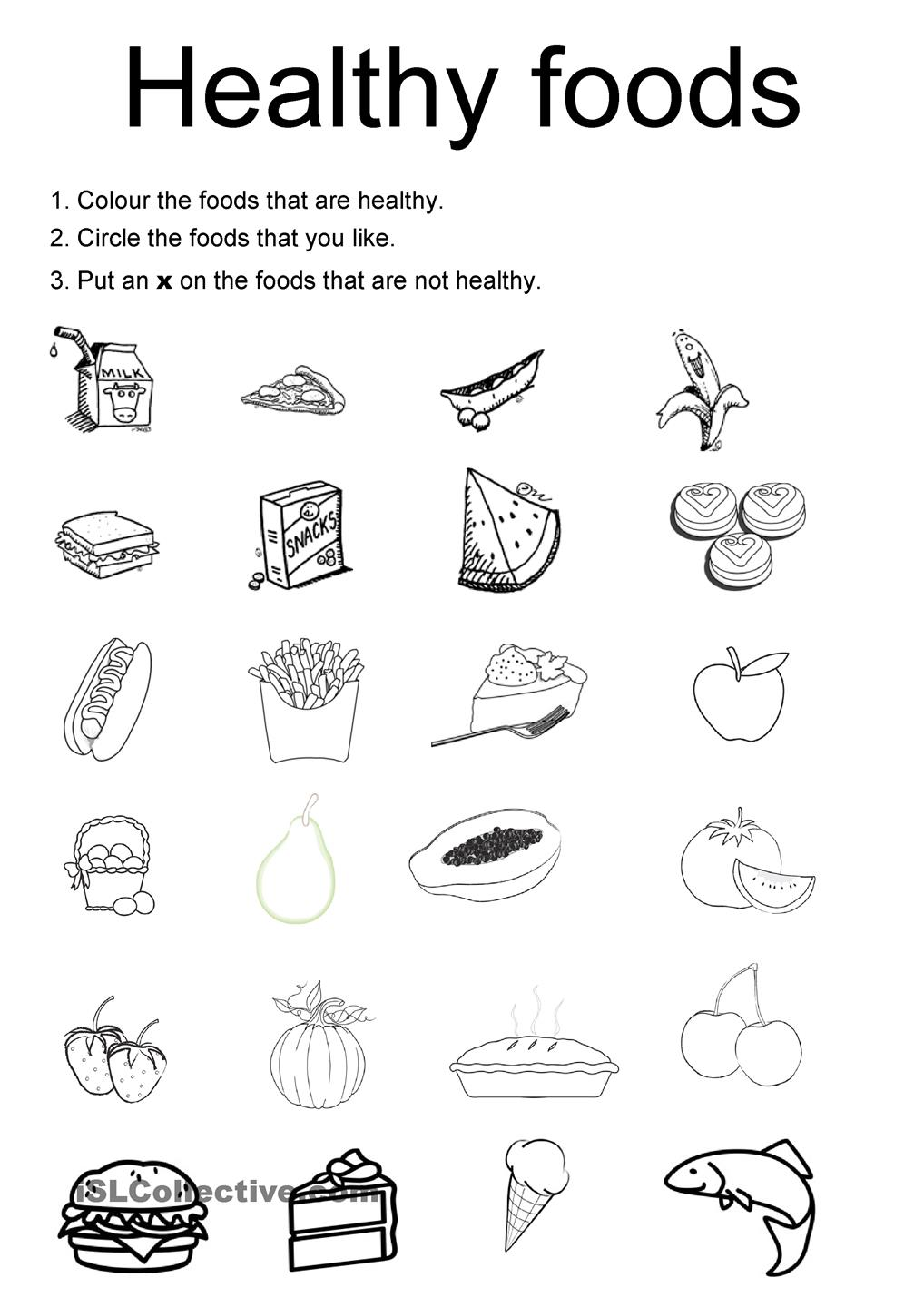 Printable Pictures Of Healthy Foods