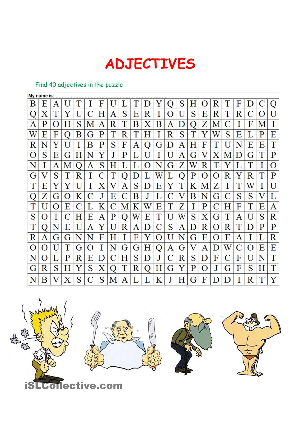 Puzzle Adjectives
