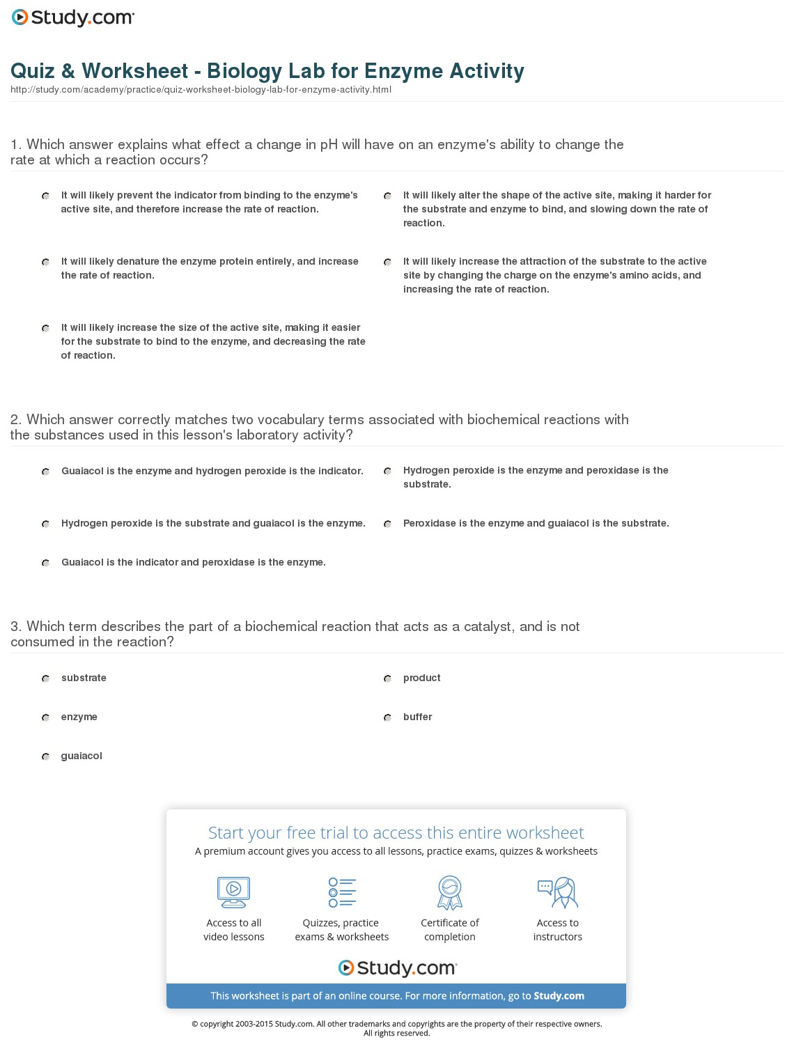 Quiz & Worksheet