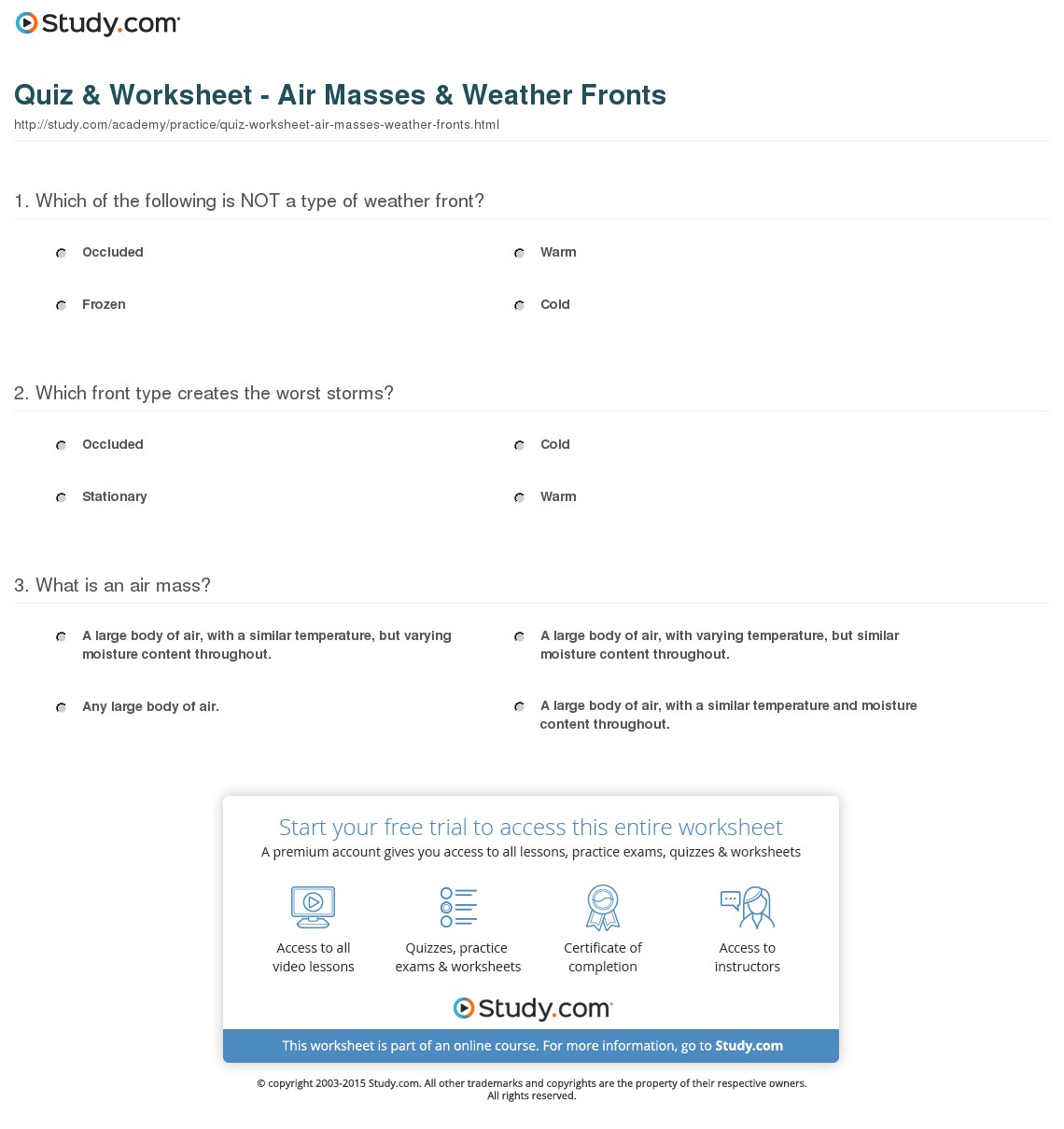 Quiz & Worksheet