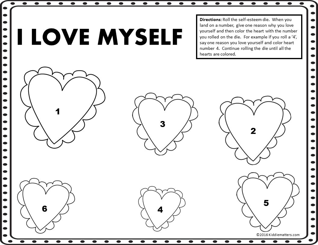 Self Esteem Worksheets For Kids Free Printable Free Worksheets