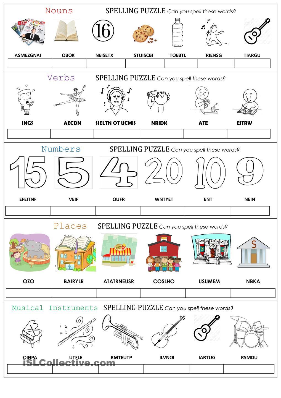 Spelling Puzzle …