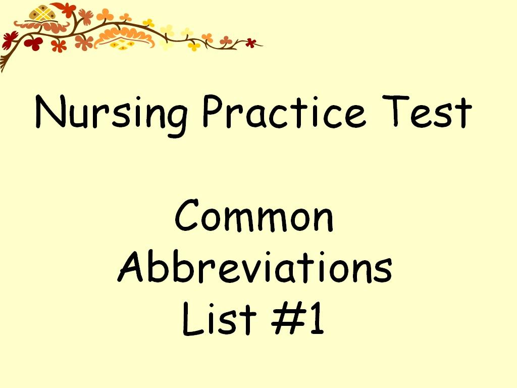 Student Survive 2 Thrive  Free Nursing Practice Test  Common