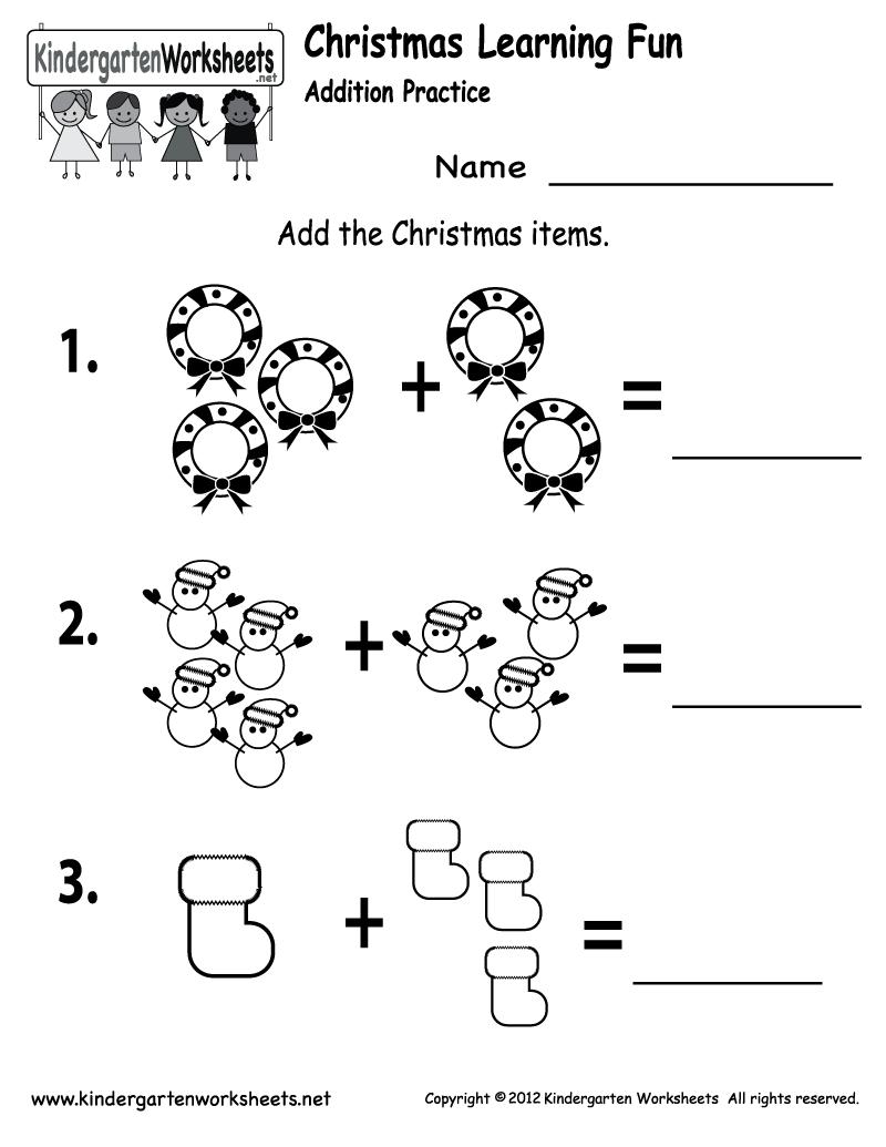 Stunning Christmas Kindergarten Worksheets Printable Photos
