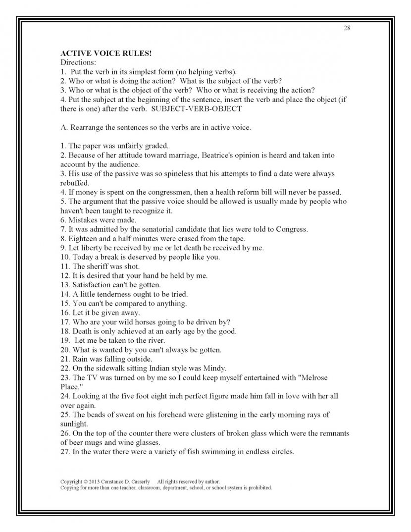 Subject Verb Agreement Worksheets High School Pdf Choice Image