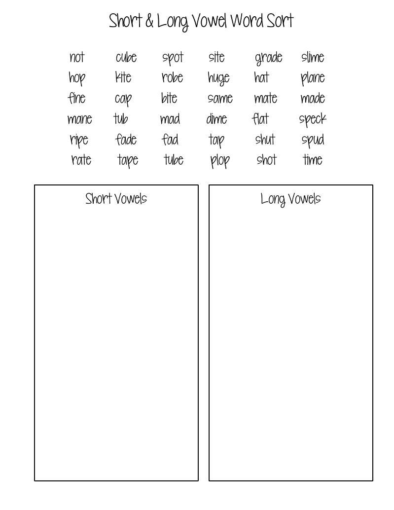 Worksheets Long And Short Vowel Worksheets long and short vowel worksheets for 2nd grade