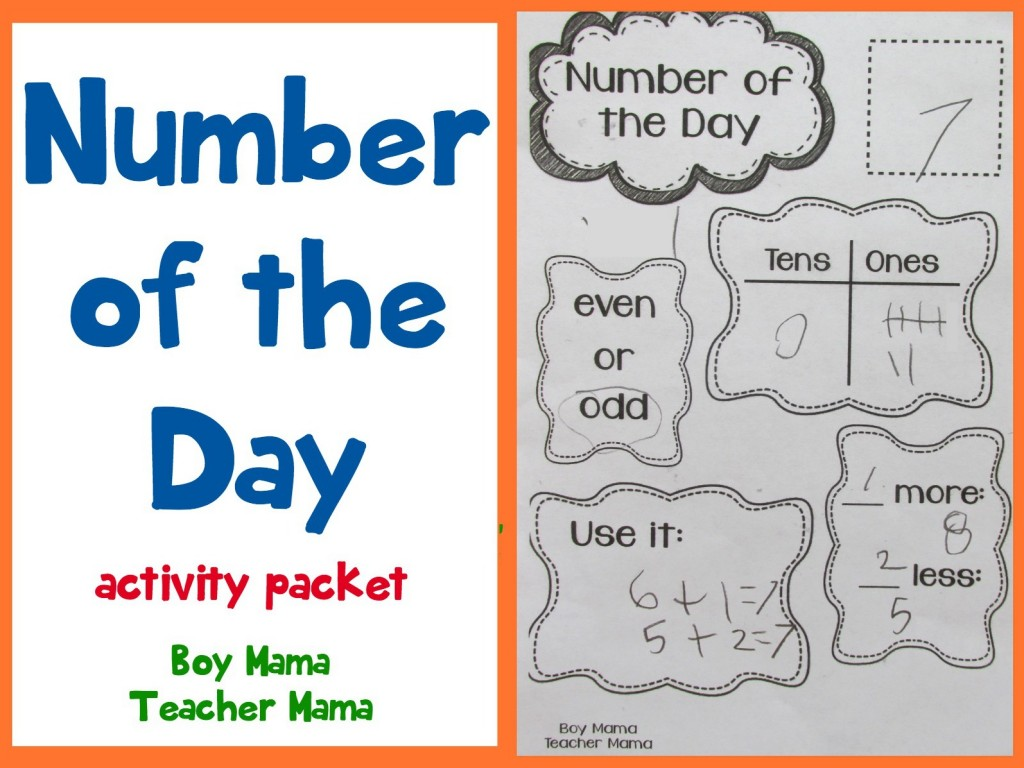 Teacher Mama  Number Of The Day Activity Pack {after School Linky