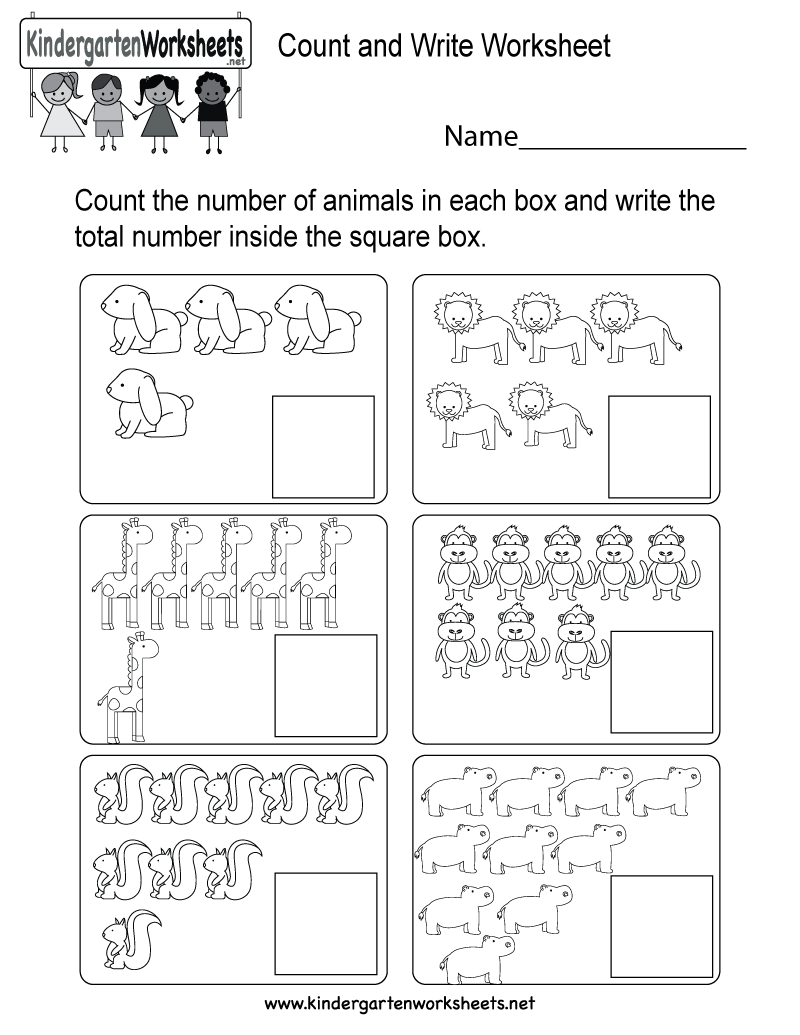 This Is A Fun Animal Counting Worksheet For Preschoolers Or