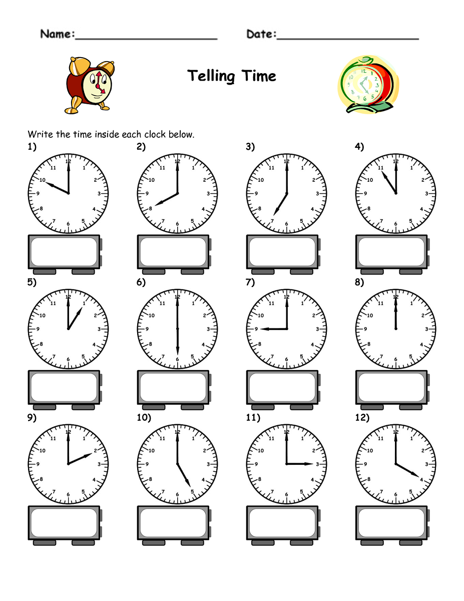 Time For Kids Worksheets Free Worksheets Library