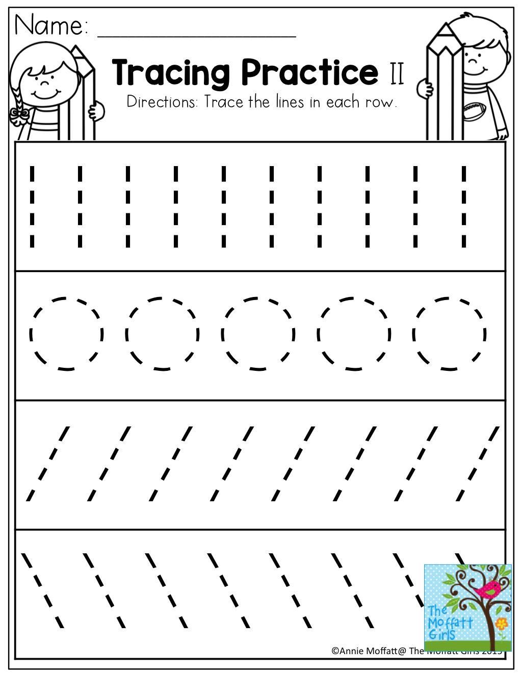 Tracing Practice Tons Of Printable For Pre K Kindergarten 1st