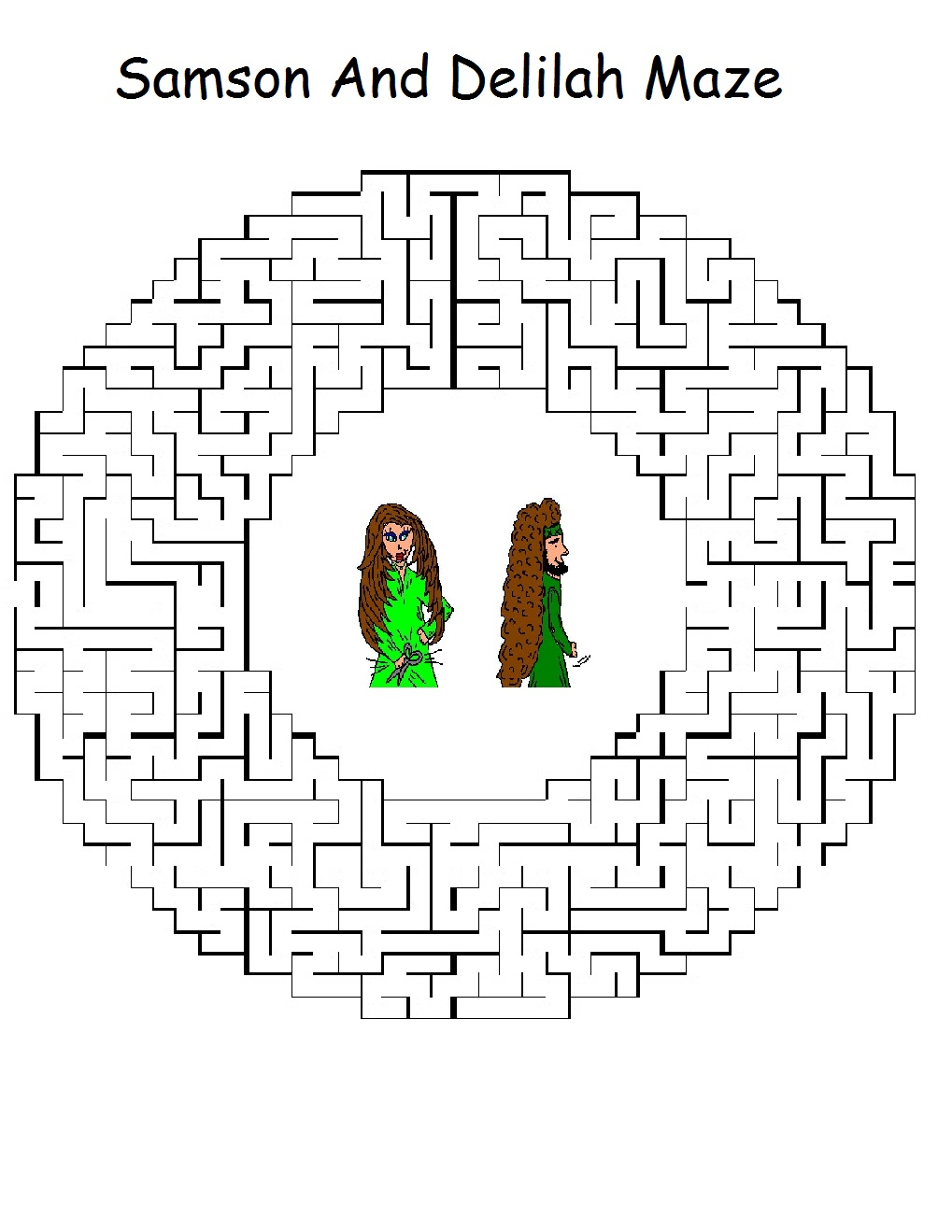 Uncategorized  Samson And Delilah Coloring Pages