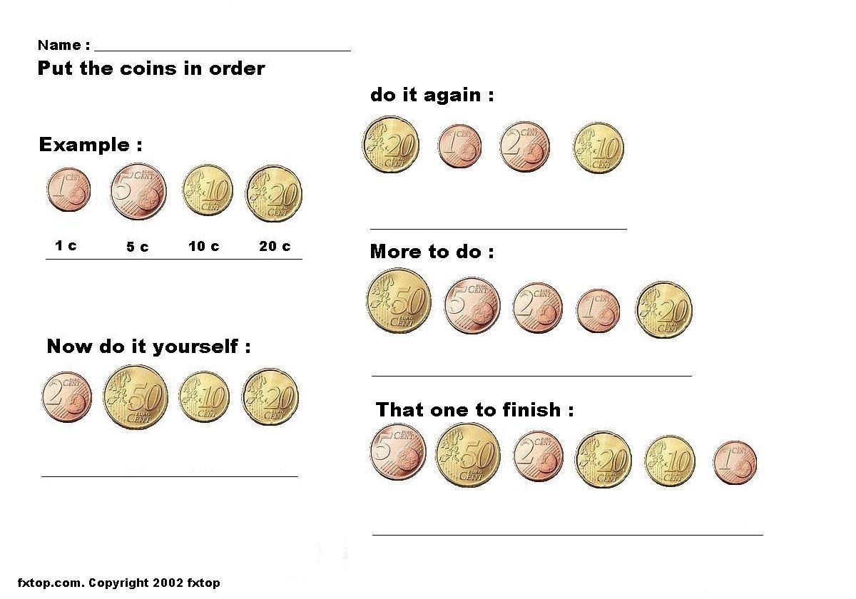 Work Sheet About Euro