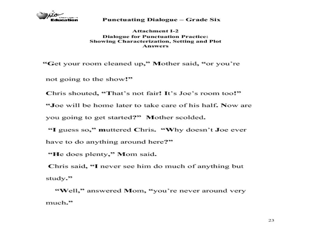 Worksheet  Punctuating Dialogue Worksheet  Recetasnaturista