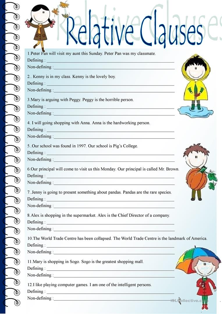 113 Free Esl Relative Clauses Worksheets