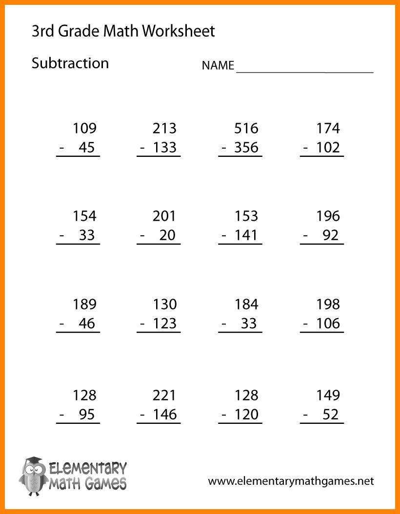 11+ Math Worksheets 3rd Grade
