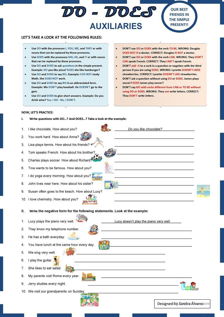 279 Free Esl Auxiliary Verbs Worksheets