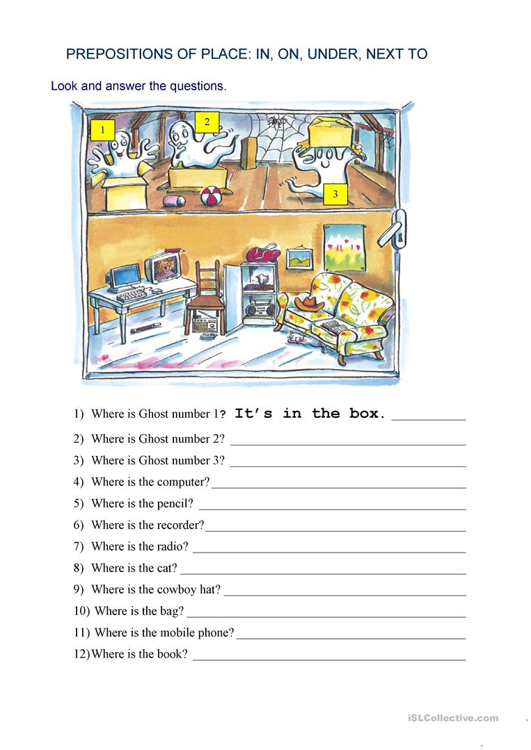 27 Free Esl Next To Worksheets