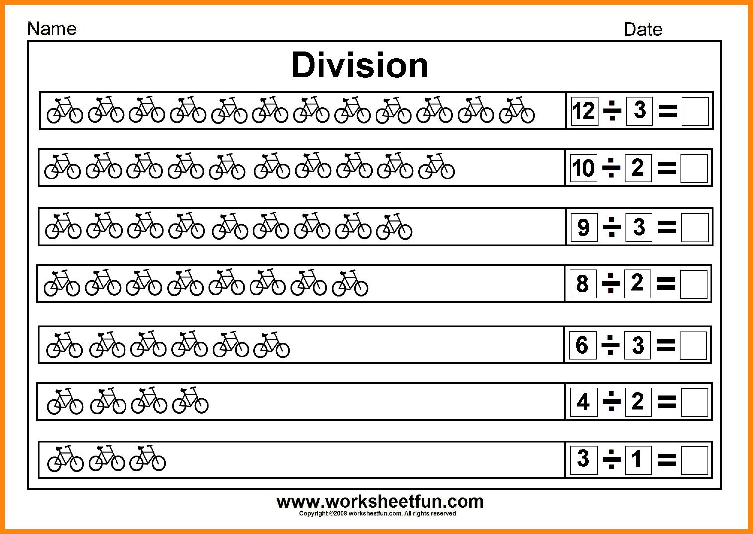 6+ Beginning Division Worksheets