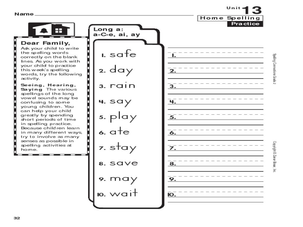 Ai And Ay Worksheets Grade 2 Worksheets For All