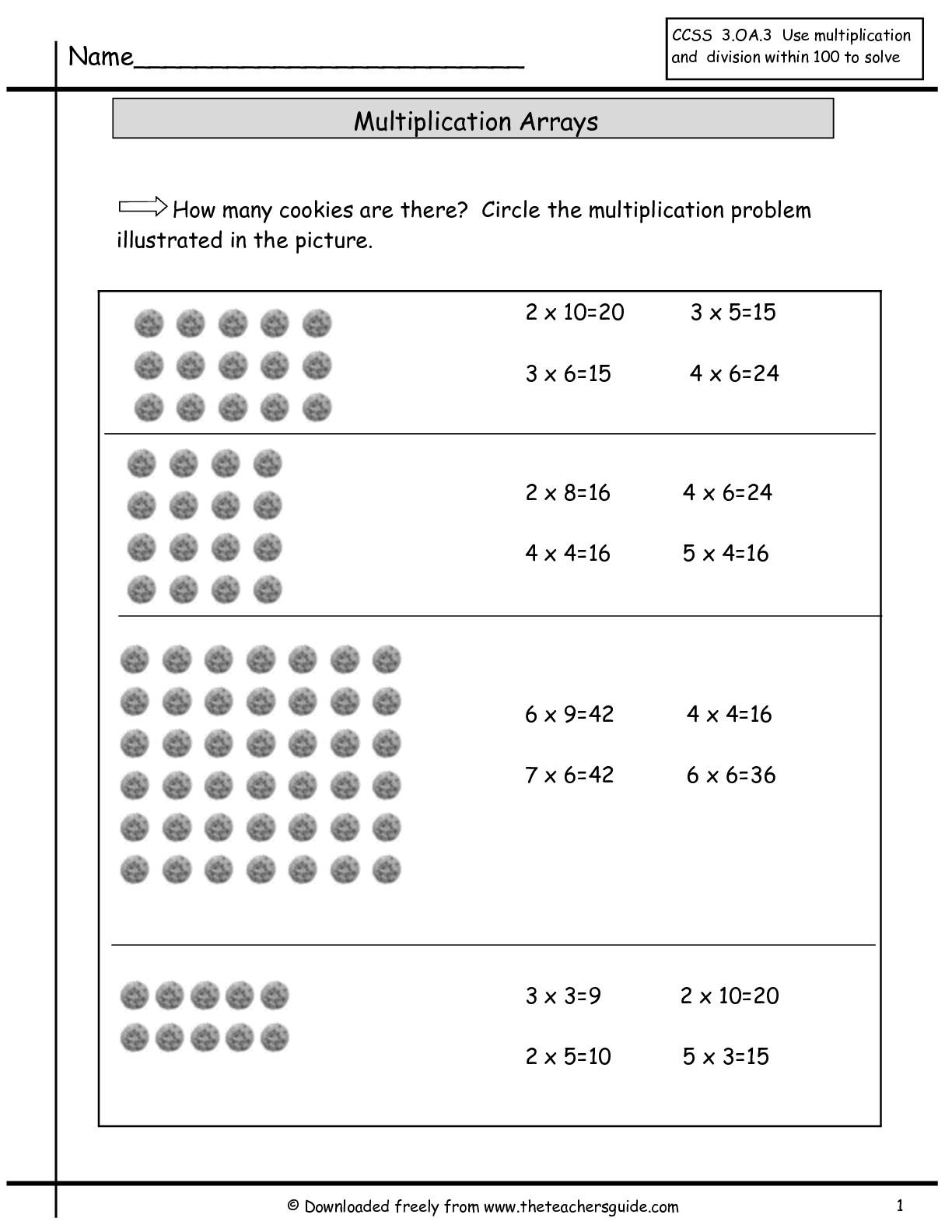 Array Multiplication Worksheets Worksheets