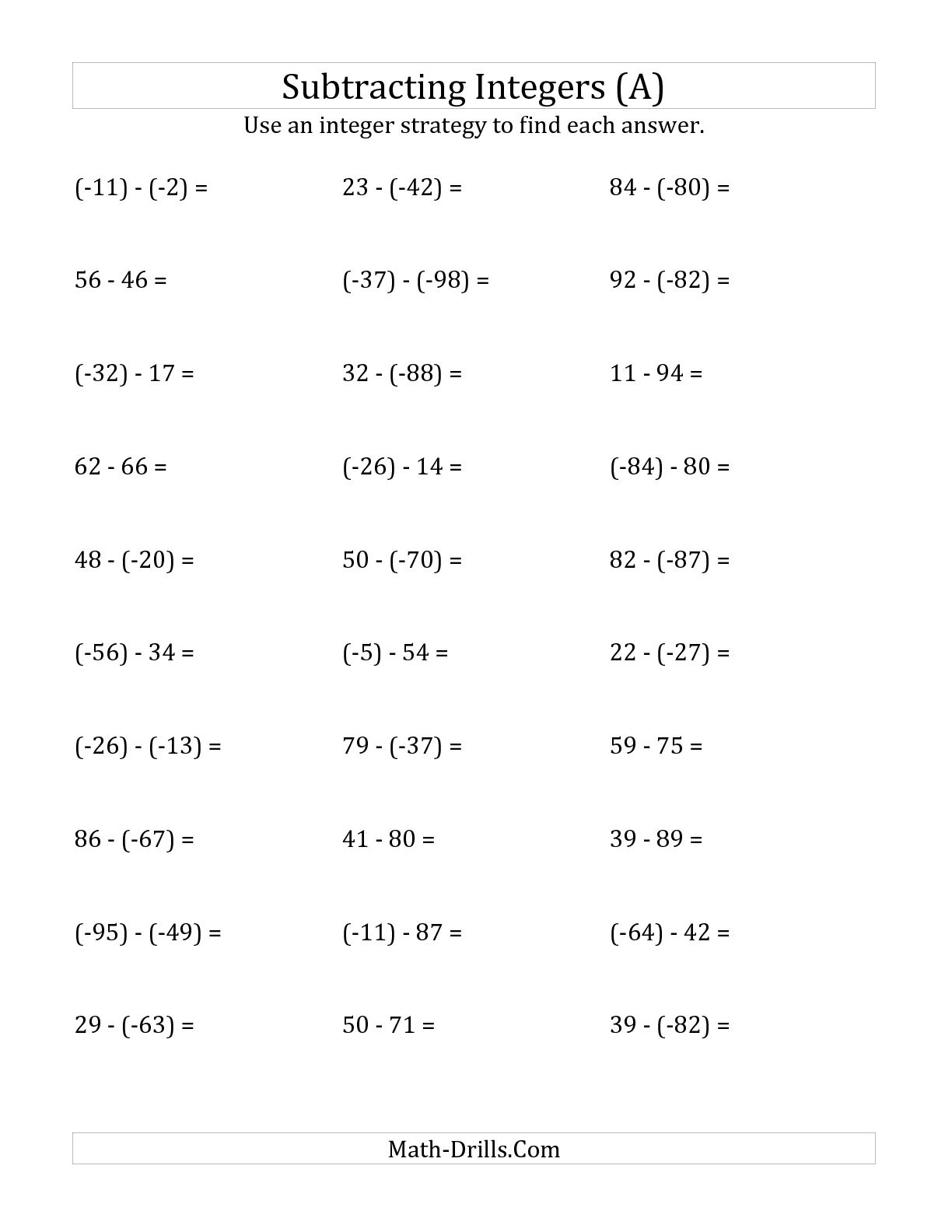 Best 25 Negative Numbers Rules Ideas On Worksheets Samples Quotes For
