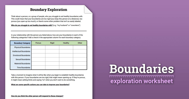 Boundaries Exploration (worksheet)