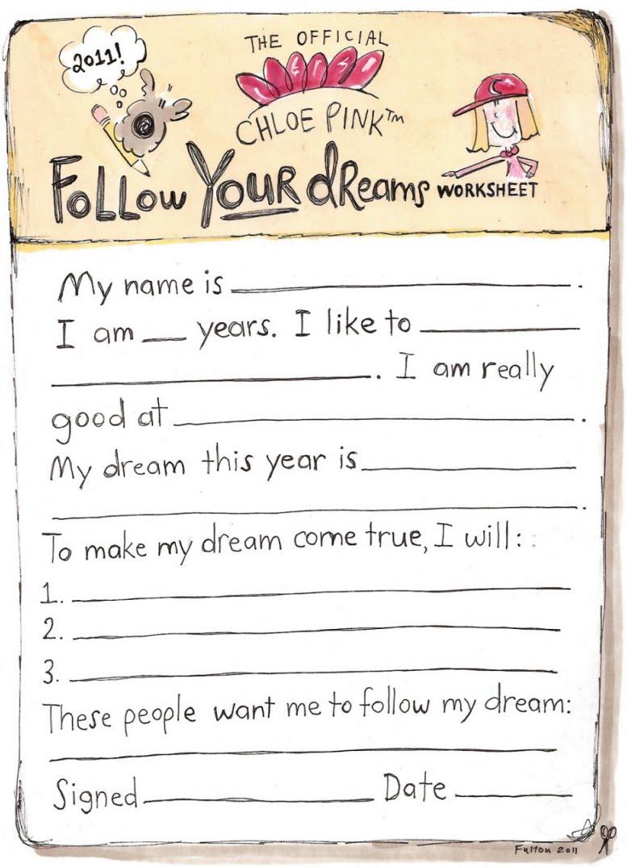Chloe Pink™ Cartoon  Chloe Pink's Dream Worksheet  The Best