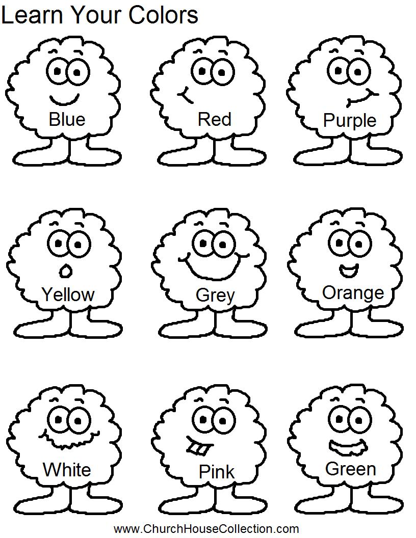 Colors Worksheets For Kindergarten Worksheets For All