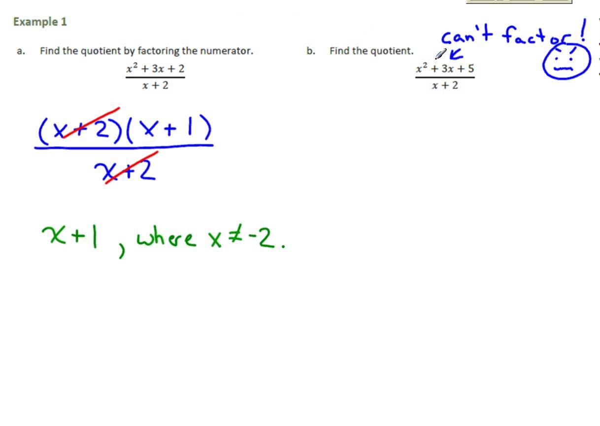 Common Core Algebra 2 Module 1 Lesson 18