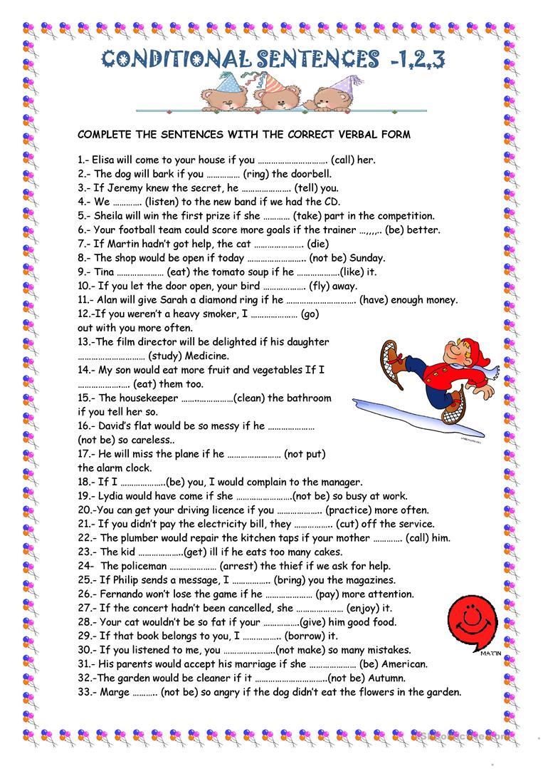 Conditional Sentences Worksheet