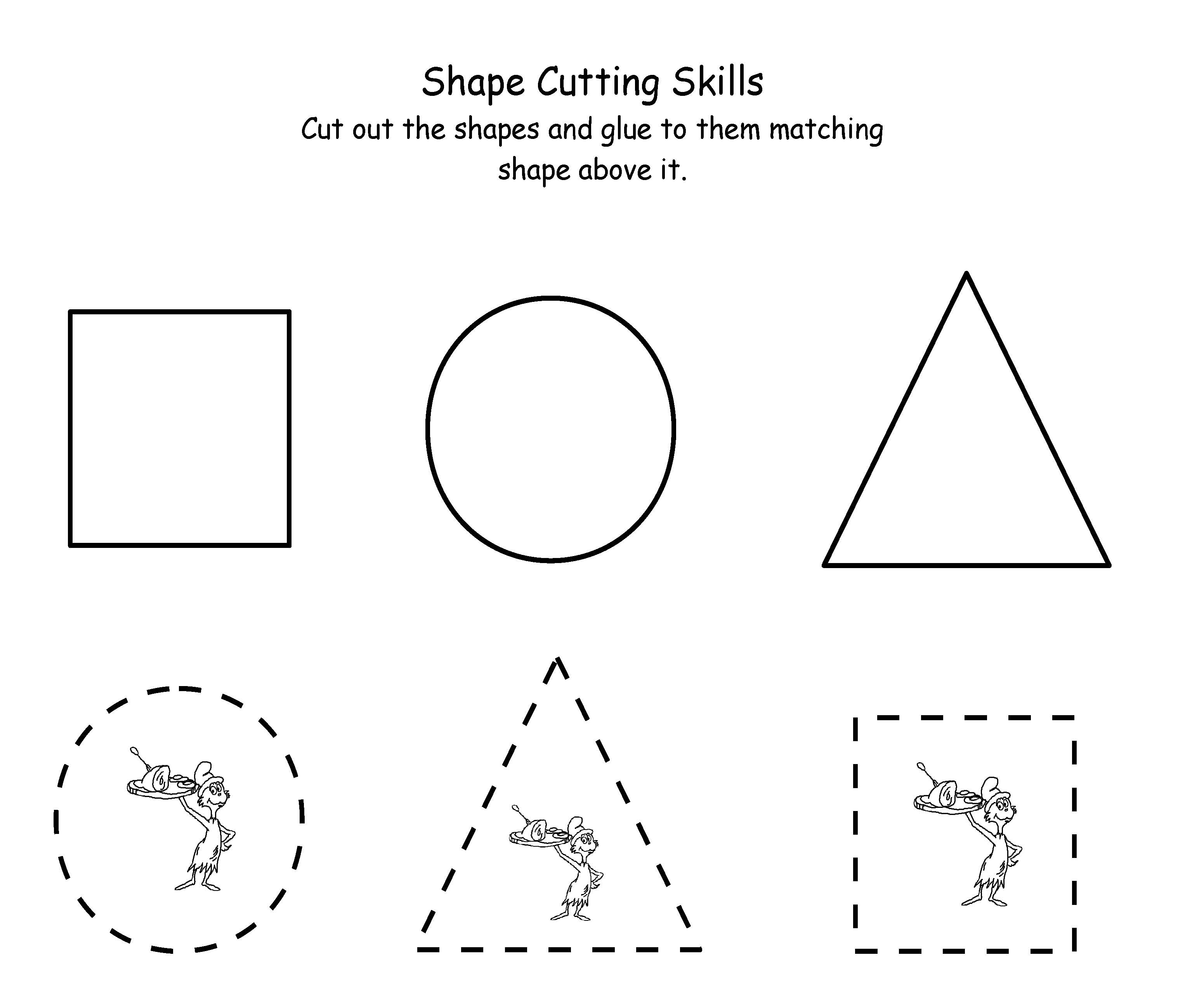 Cutting Worksheets For Preschoolers