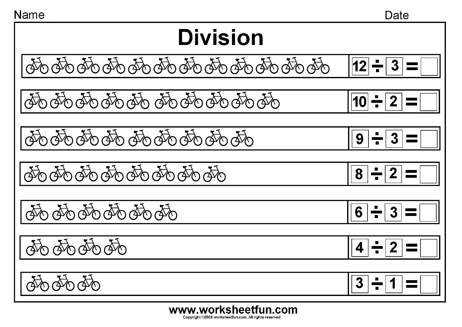 Division Worksheets On Worksheetfun Com