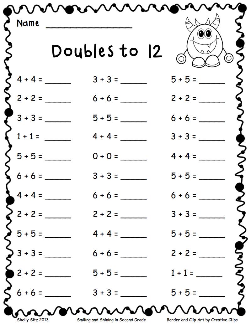 Doubles To 12 Pdf