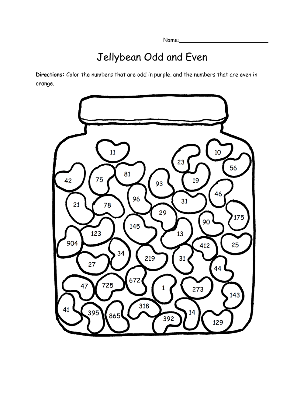 Even And Odd Worksheets Simple