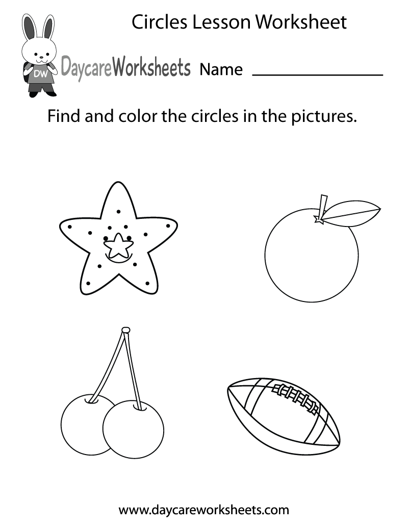 Free Circles Lesson Worksheet For Preschool