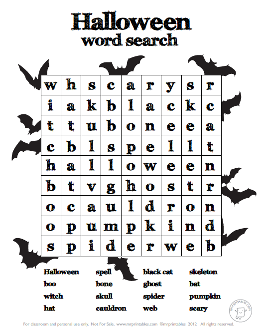 Free Halloween Worksheets Worksheets For All
