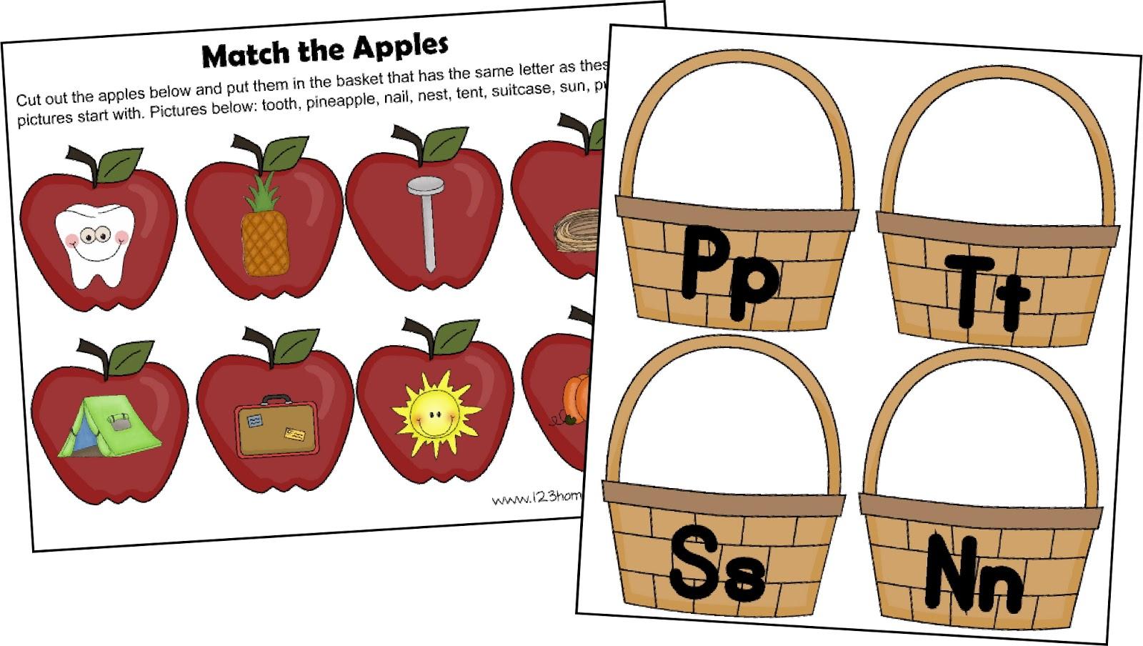 Free! Letter A Apple Sort
