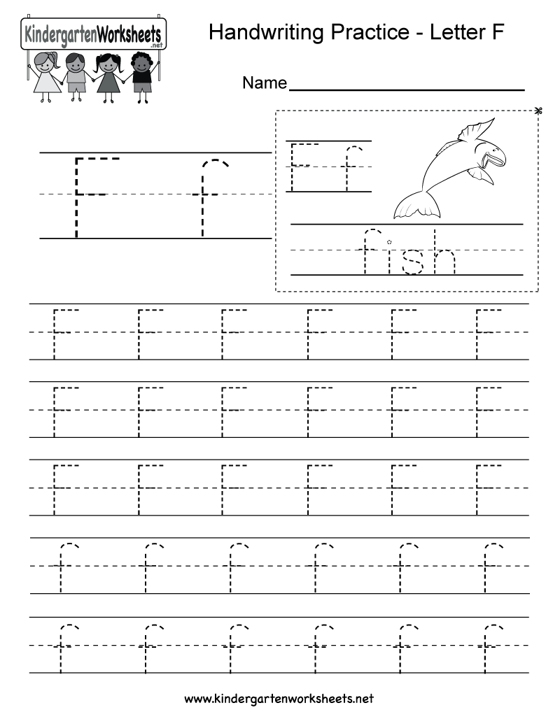 Free Printable Letter F Writing Practice Worksheet For Kindergarten