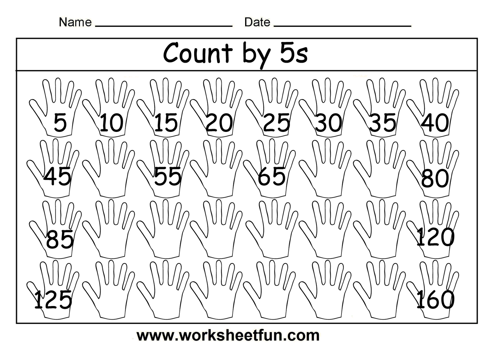 Free Printable Math Worksheets Count By 5s …