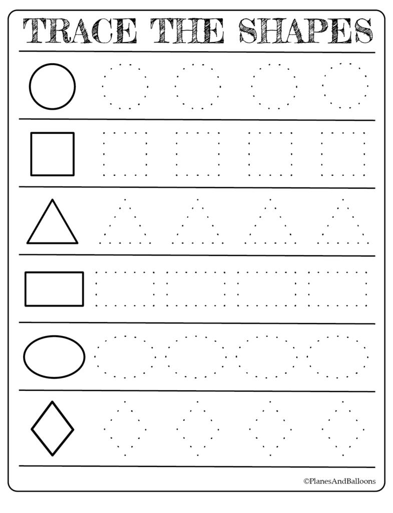 Free Printable Shapes Worksheets