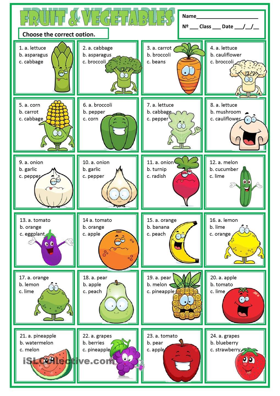 Fruit & Vegetables …