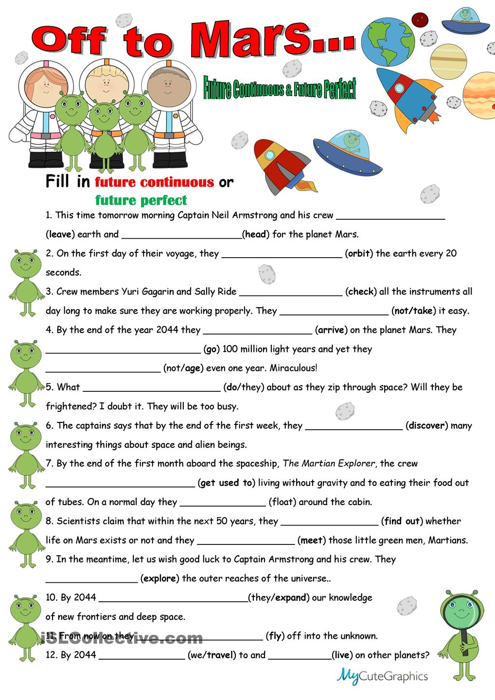 Space Vocabulary Worksheets