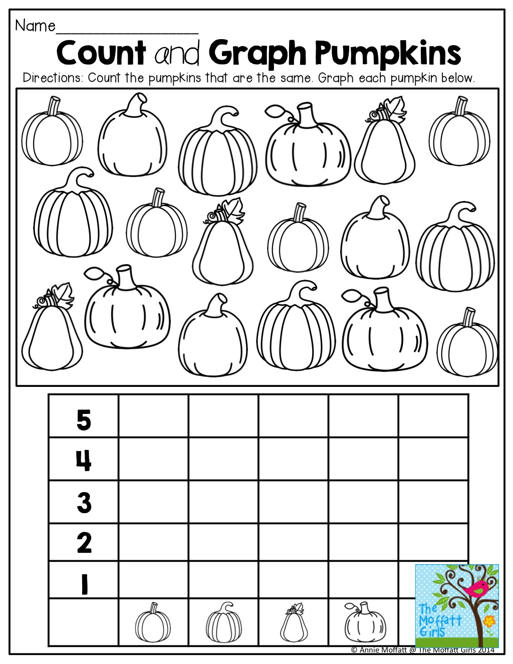 Graphing Pumpkins And Tons Of Other Fun Printables!