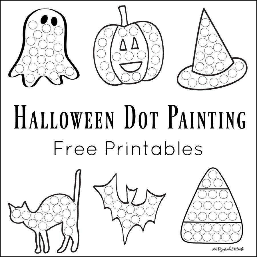 Halloween Dot Painting {free Printables}