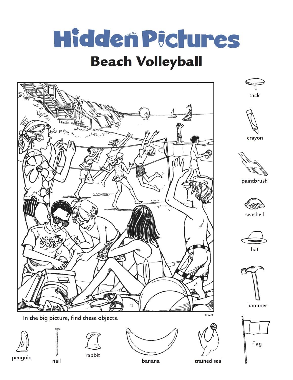 Hidden Pictures Worksheets Printable