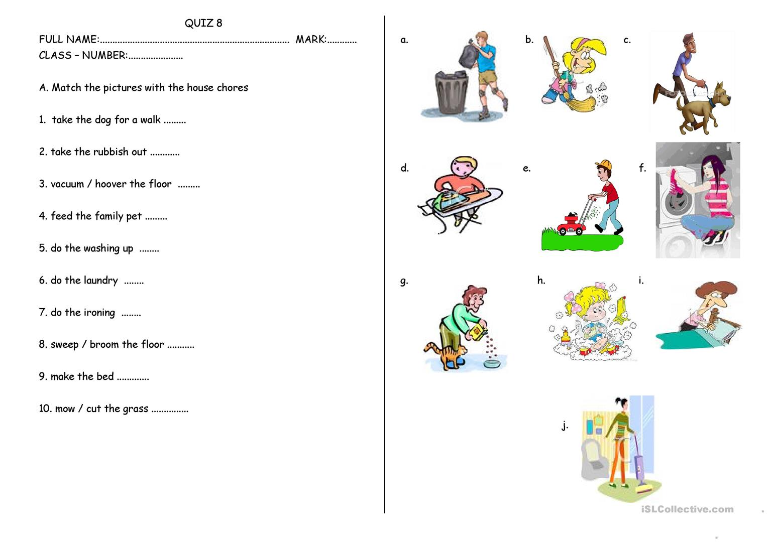 House Rules Worksheets