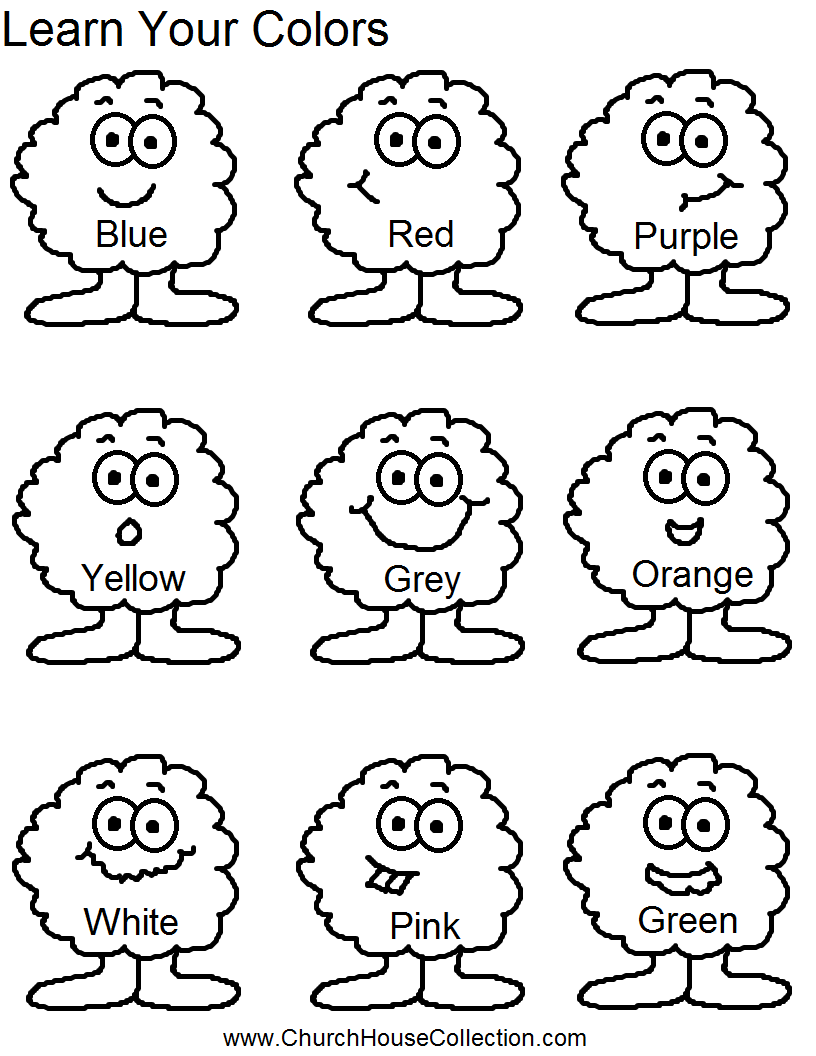Identifying Colors Worksheets Worksheets For All
