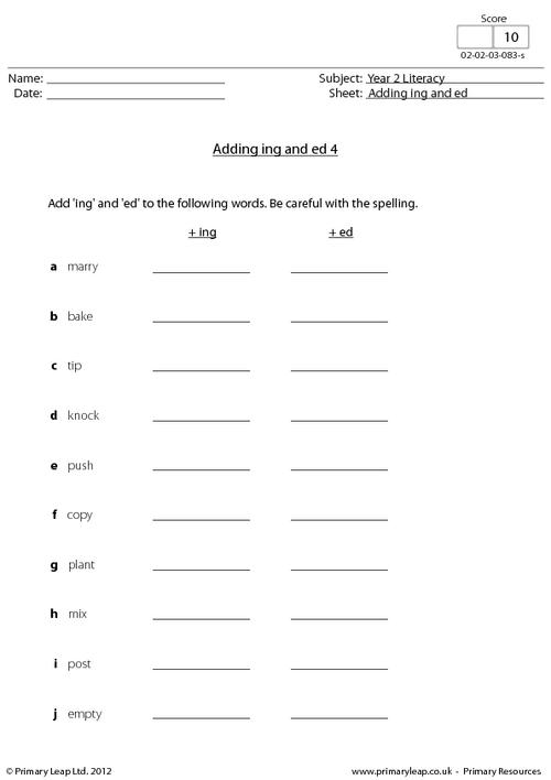Ing Worksheet Photos