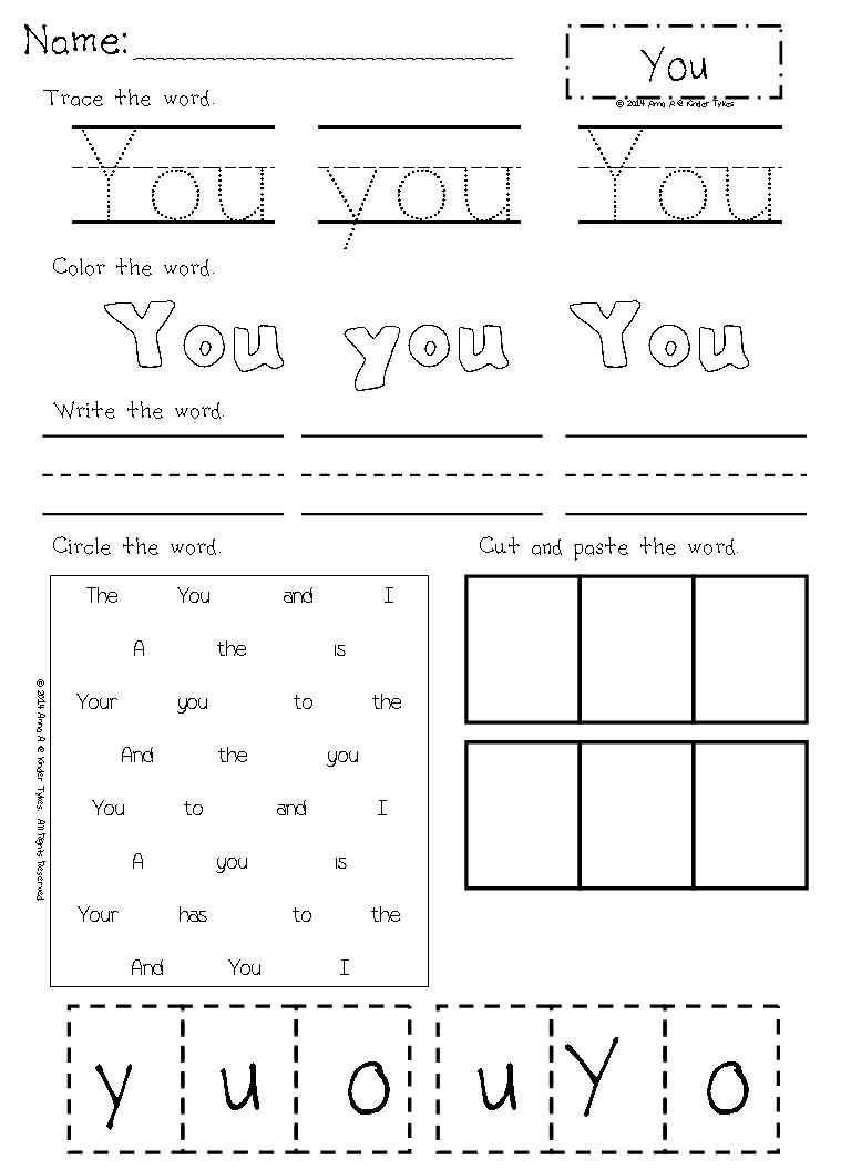 Kids  Word Practice Worksheets  Math Worksheets Kindergarten